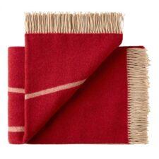 plaid rood merino wol