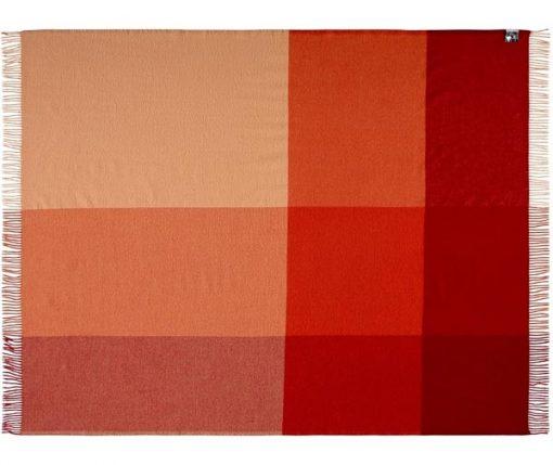 plaid rood oranje merino wol