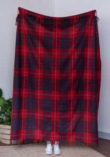 plaid rood wol ruiten recycled