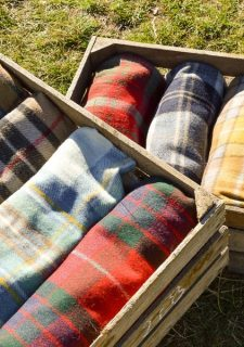 plaids wol ruiten recycled