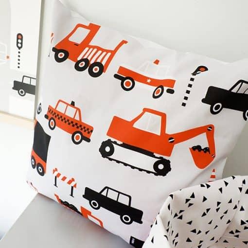 kussen oranje voertuigen auto terracotta