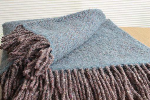 blauwe plaid wol recycled klippan