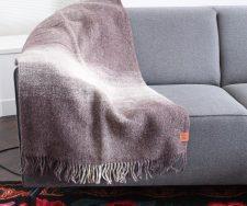 bruine plaid klippan recycled wol