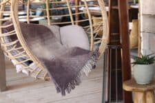 bruine plaid klippan wol burst