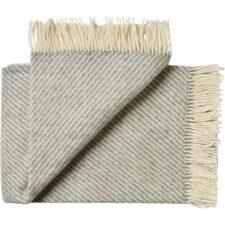 deken plaid grijs visgraat