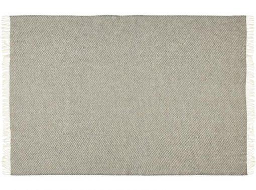 deken plaid grijs visgraat wol