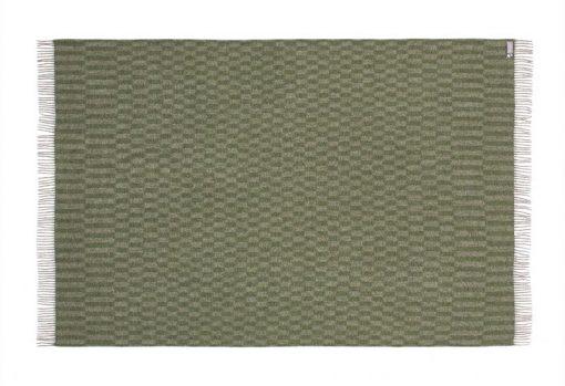 groen plaid grijs wol