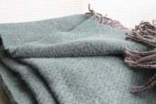 groene plaid klippan recycled wol