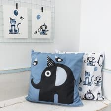 kussen blauw olifant kinderkamer