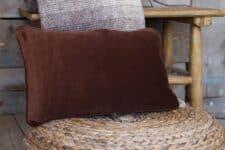 kussen bruin velvet bungalow