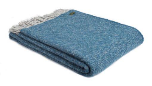 plaid blauw grijs wol