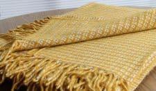 plaid geel bamboe klippan wol