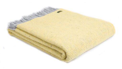 plaid geel grijs wol