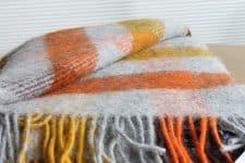 plaid geel oranje ruiten wol