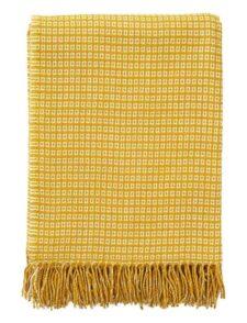 plaid geel wol bamboe klippan