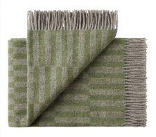 plaid groen grijs wol