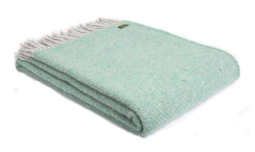 plaid groen mintgroen grijs wol
