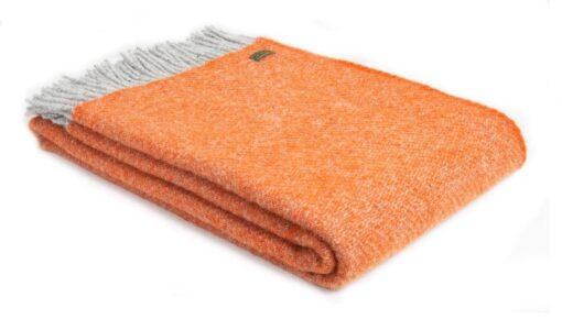 plaid oranje grijs wol