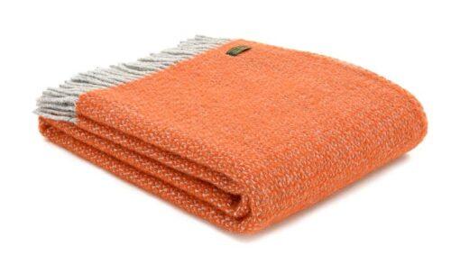 plaid oranje wol grijs