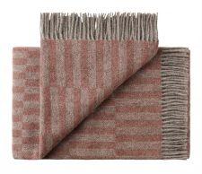 plaid rood roze grijs wol