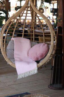 plaid roze kussen wol velvet