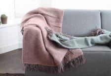 plaids groen roze klippan wol recycled
