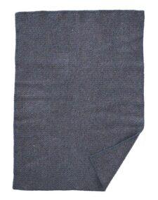 wiegdeken blauw recycled wol