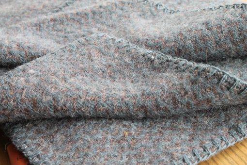 wiegdeken blauw wol recycled klippan