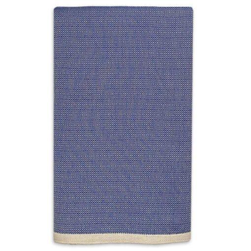 grand foulard blauw katoen diamant