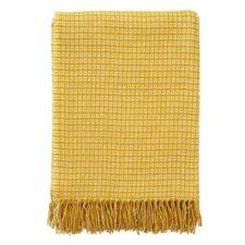 plaid geel wol bamboe klippan java