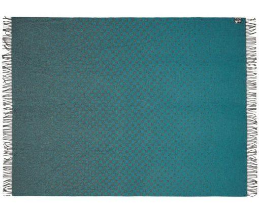 plaid petrol blauw alpaca wol
