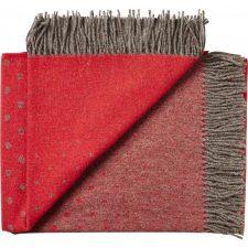 plaid rood wol alpaca