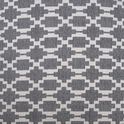 sierkussen grijs patroon