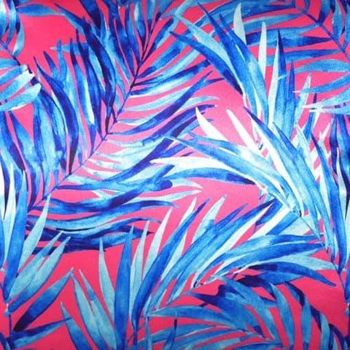 sierkussen roze blauw blad
