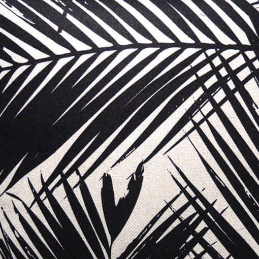 sierkussen palmbladeren zwart wit
