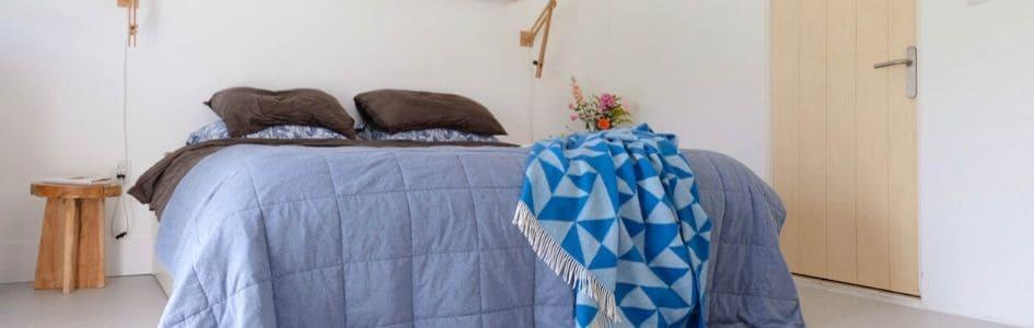 sprei blauw linnen katoen house in style