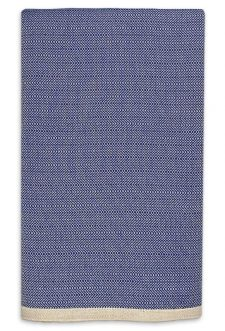 grand foulard blauw katoen
