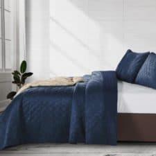 sprei blauw bed