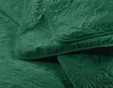 sprei groen bed detail