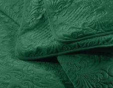 sprei groen bed detail