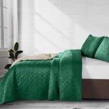 sprei groen bed