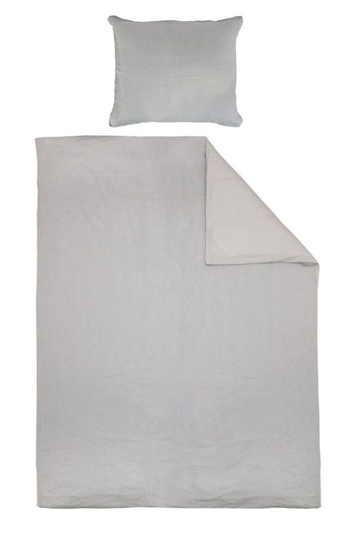 dekbedhoed lichtgrijs linnen katoen