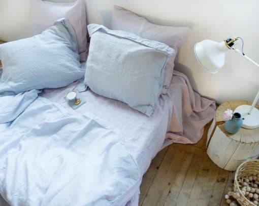 dekbedovertrek lichtblauw linnen house in style