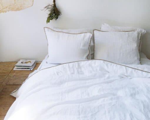 dekbedovertrek wit zand linnen katoen house in style