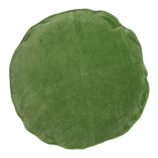 kussen groen rond velvet rond bungalow