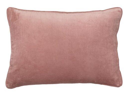 kussen roze velvet langwerpig