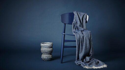 plaid alpacawol blauw sevilla visgraat