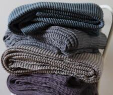 plaid blauw grijs naturel paars