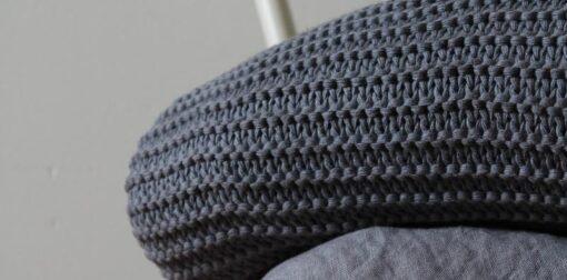 plaid donkerblauw gebreid linnen katoen