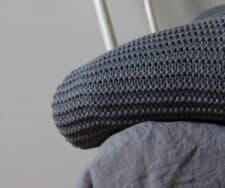 plaid donkerblauw linnen katoen